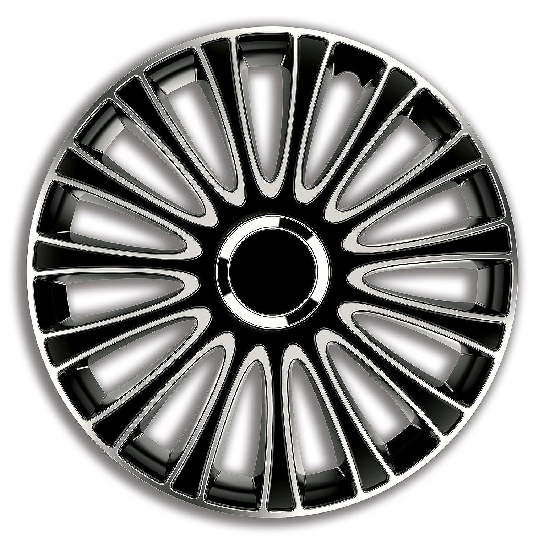 4pz Copricerchi Coppa ruota Coppe borchie LmPro D'argento & Nero 14 pollici PKWelt