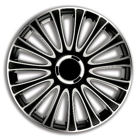 4er Set Radkappen Radzierblenden Radabdeckungen Modell Giga Schwarz 15 Zoll