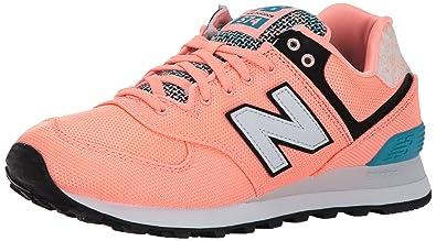 0db58d04a81d5 New Balance Women's 574V1 Art School Sneaker, Bleached Sunrise/Pisces, 6 D  US