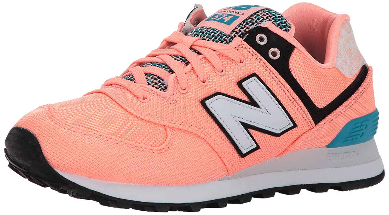New Balance Women's 574v1 Art School Sneaker B01MTQ867U 6.5 D US|Bleached Sunrise/Pisces