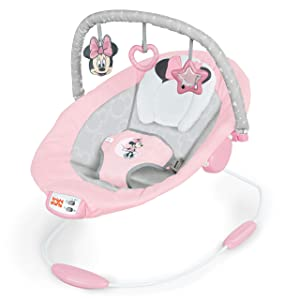 Bright Starts Minnie Mouse Rosy Skies Cradling Bouncer with Vibrating Seat & Melodies