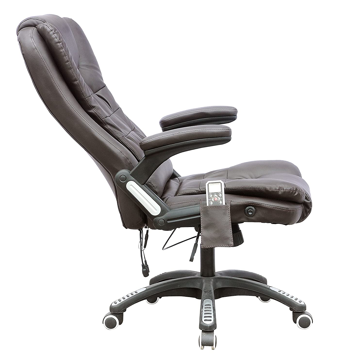 FoxHunter Luxury Leather 6 Point Massage fice puter Chair