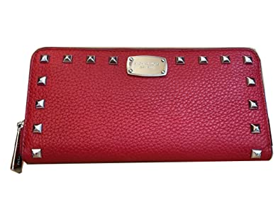 1b82fd3ee692 Image Unavailable. Image not available for. Color: Michael Kors Jet Set  Item Studded Leather Zip Around Continental Wallet ...