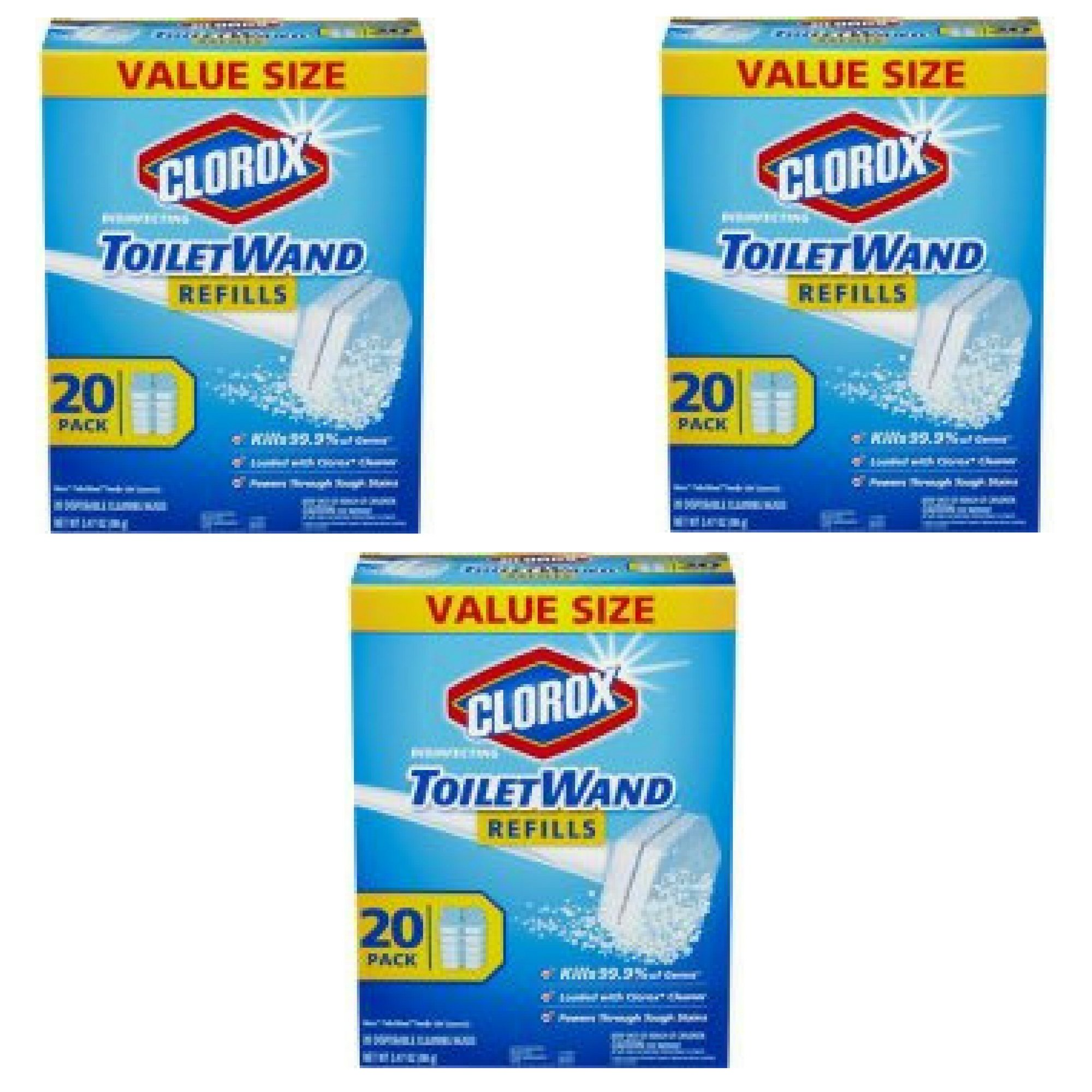 Clorox ToiletWand Disinfecting Refills, 20 Count - 3 Packs