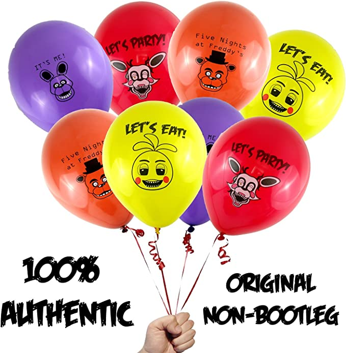 24pcs Five Nights at Freddy balloons Childrens birthday party balloons Five Nights at Freddy theme party supplies