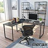 Merax L-Shaped Workstation Computer Corner Home Office Wood Laptop Table Study Desk (Black),