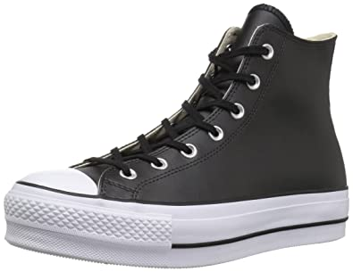 Converse Women s Chuck Taylor All Star Lift Clean HIGH TOP Sneaker Black  White b6b4f4b5cc