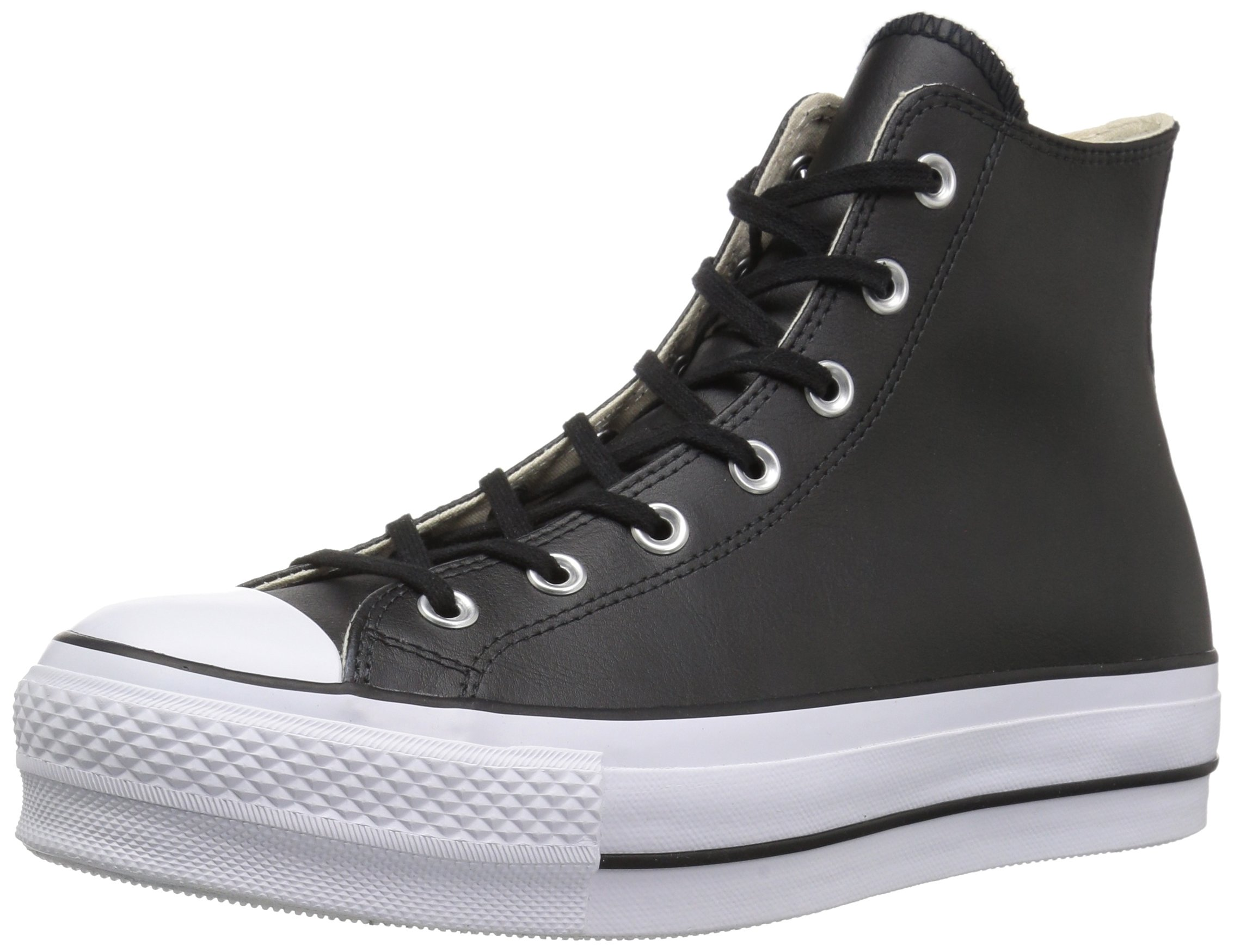 4ec6682769 Galleon - Converse Women's Chuck Taylor All Star Lift Clean HIGH TOP Sneaker,  Black/White, 8 M US