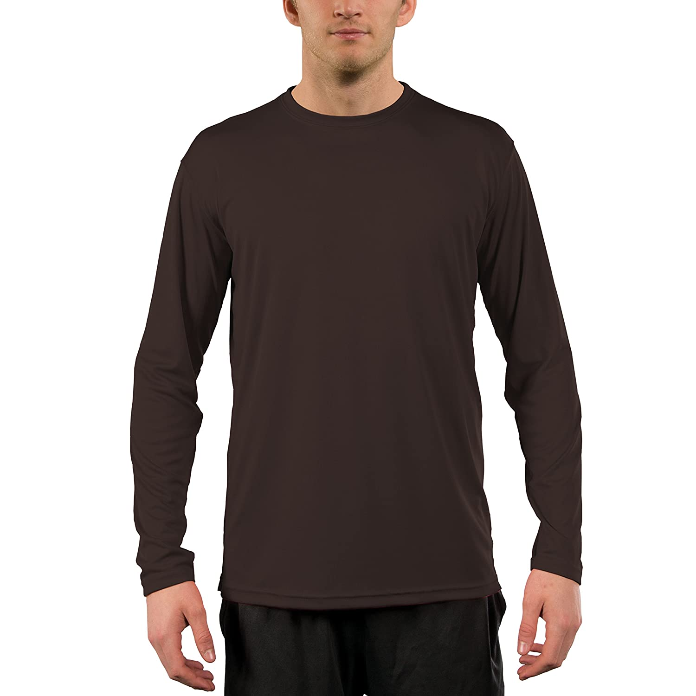ee5afb245c Amazon.com: Vapor Apparel Men's UPF 50+ UV Sun Protection Performance Long  Sleeve T-Shirt: Clothing