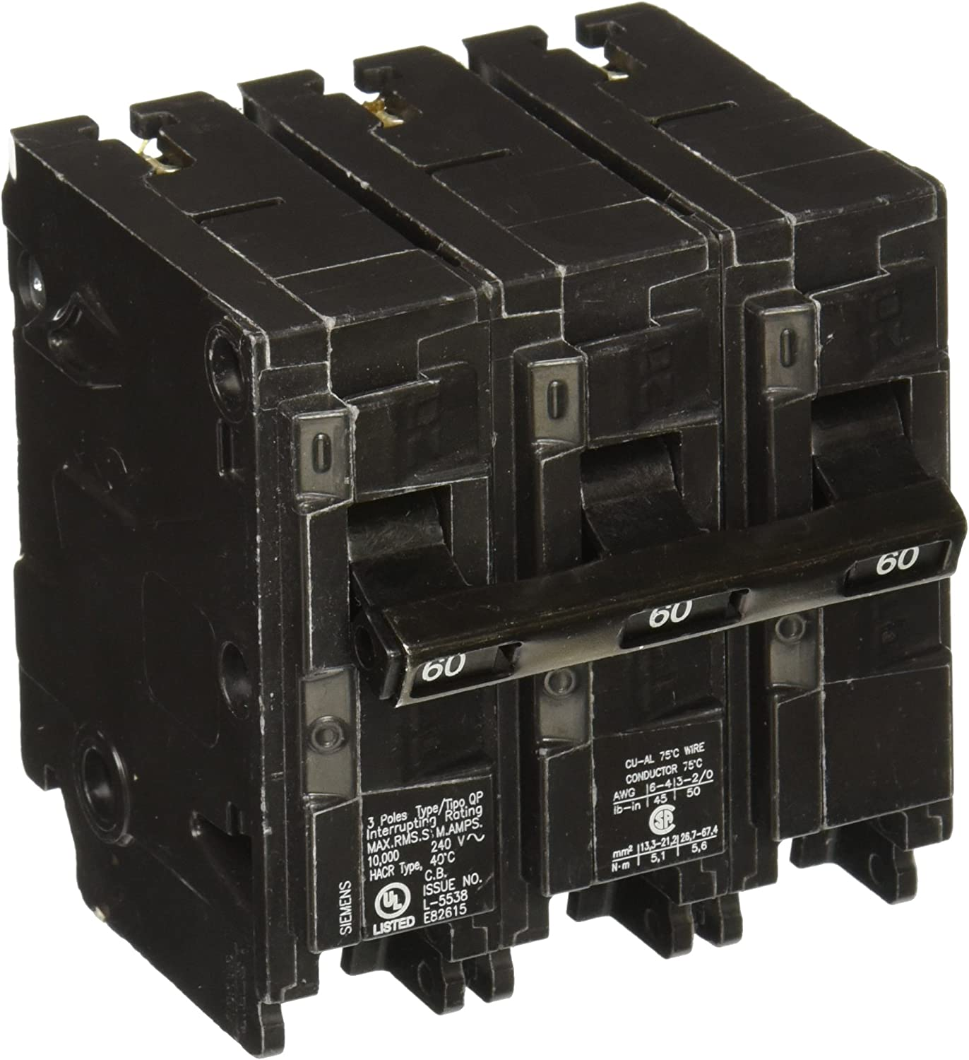 Q360 60-Amp Three Pole Type QP Circuit Breaker