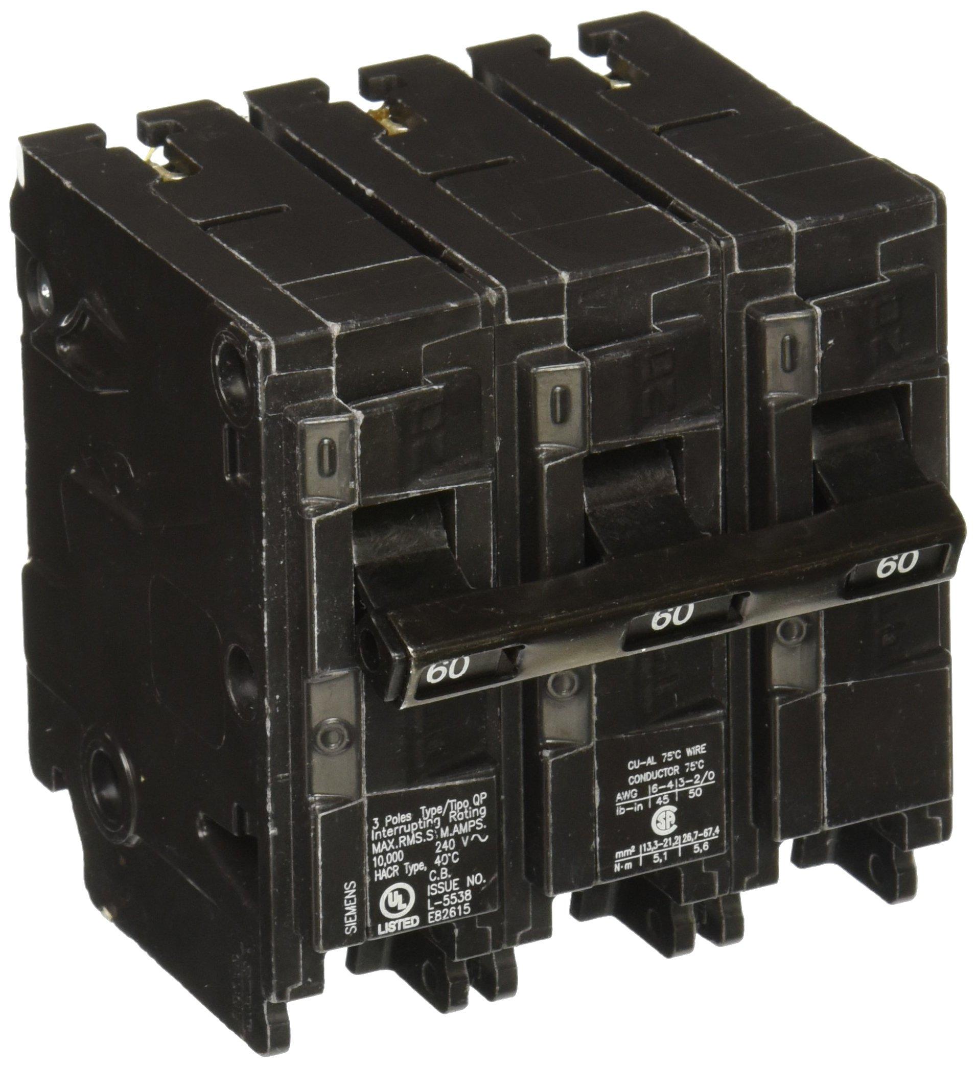 Q360 60-Amp Three Pole Type QP Circuit Breaker by Siemens (Image #1)