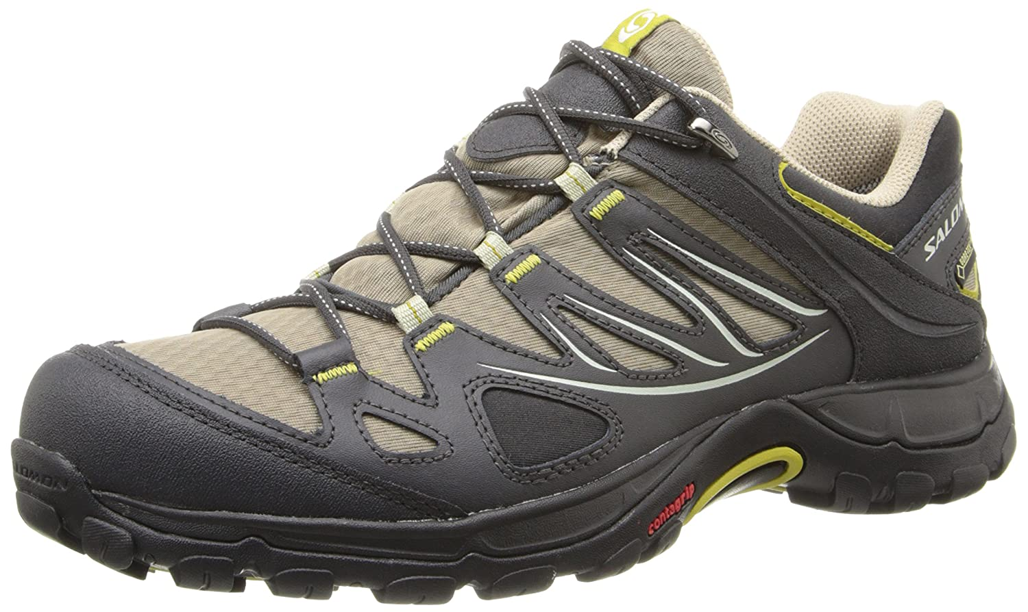 Salomon Women's Ellipse GTX Hiking Shoe B00KWOOXWU 7.5 B(M) US|Thyme/Asphalt/Dark Green