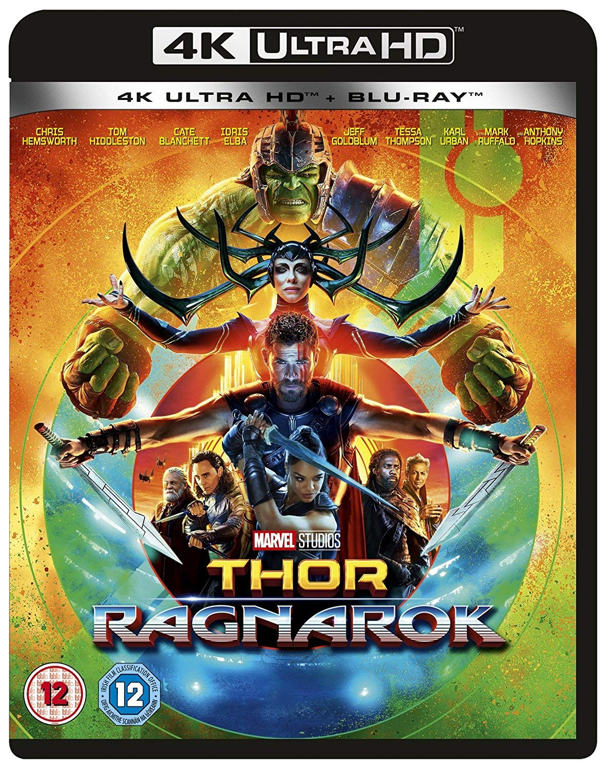 Amazon Com Thor Ragnarok 4k Including 2d Blu Ray 2017 Region Free Chris Hemsworth Tom Hiddleston Benedict Cumberbatch Idris Elba Tessa Thompson Jaimie Alexander Cate Blanchett Anthony Hopkins Karl Urban Mark Ruffalo Sam Neill