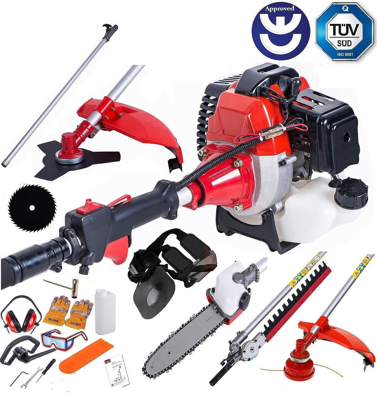 bu-ko 52cc Long Reach petrol multi funktionelle Garten-Werkzeug einschließlich: Rasentrimmer, Heckenschere, Hochentaster, Pinsel Cutter & Verlängerungsstange