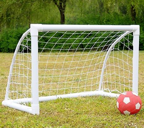 iiSPORT Portería de fútbol para jardín PVC portería con 4 anclajes ...