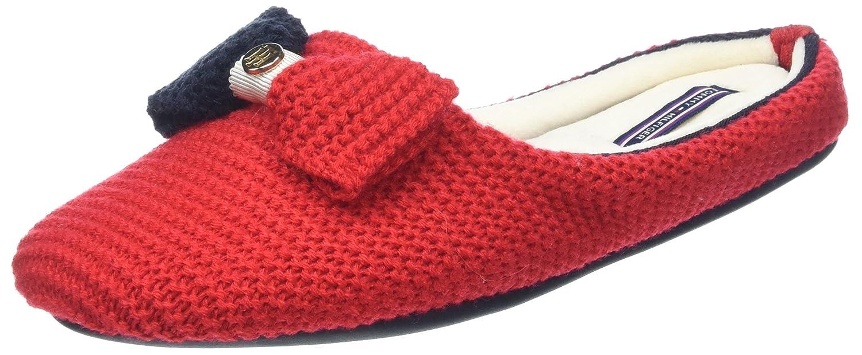 Tommy Hilfiger O1285rion 2D, Pantuflas para Mujer 39/40 EU Rojo (Tango Red)