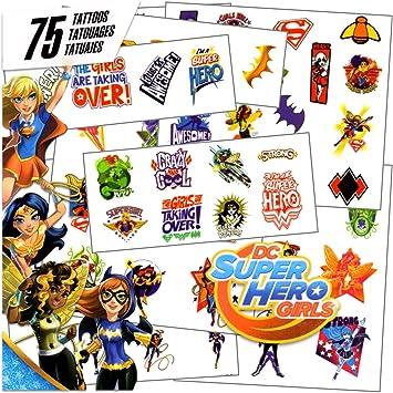 DC Super Hero Girls - 75 Assorted Temporary Tattoos by Super Hero ...