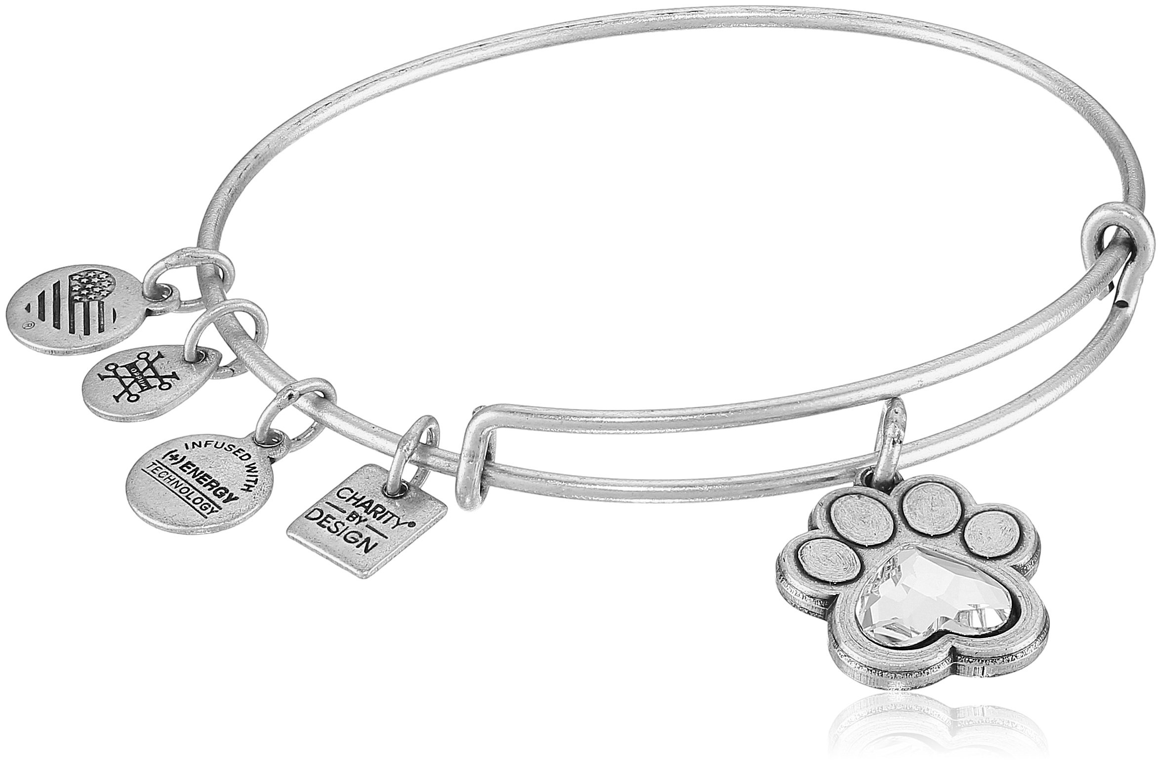 Alex and Ani Charity By Design, Prints of Love Expandable Rafaelian Silver Bangle Bracelet by Alex and Ani