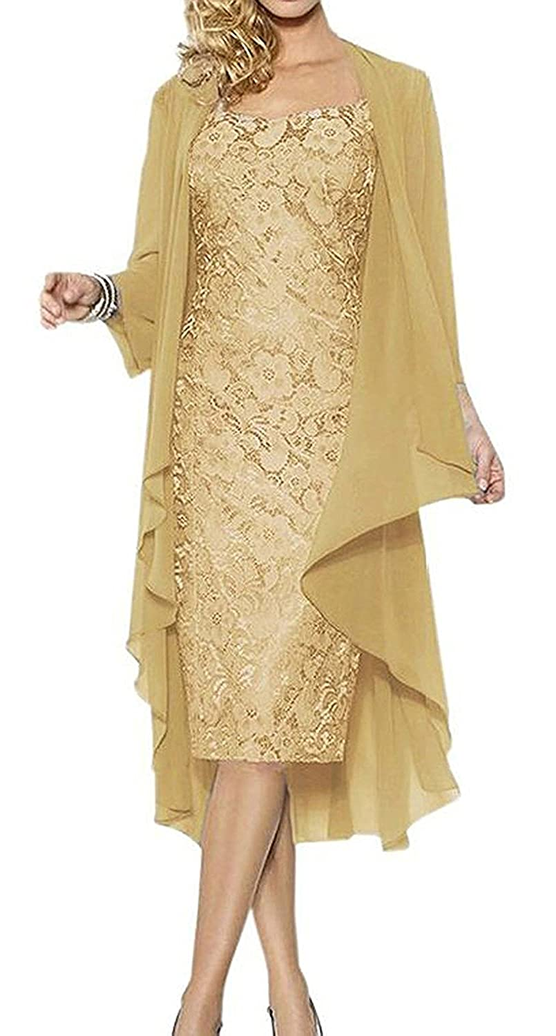Lily Anny Women Mother Of Bride Dresses With Jacket Prom Gown L107LF