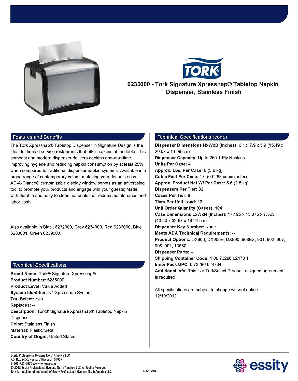1054d271c98 Amazon.com  Tork 6235000 Xpressnap Tabletop Napkin Dispenser