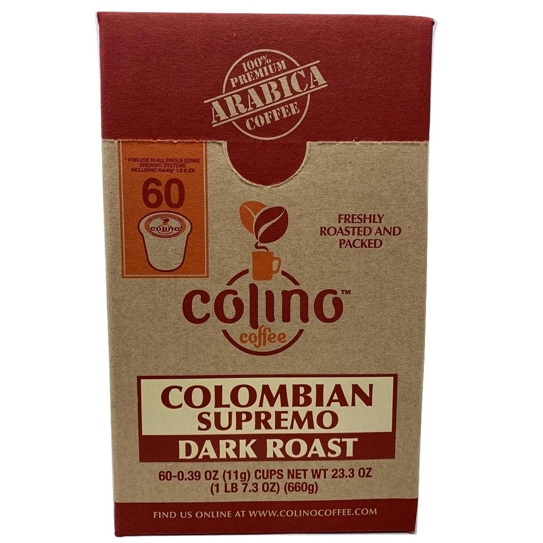 買得 100% Colino Colombian Supremo Supremo Coffee Single-Serve Coffee. K-Cup Pods Deal Box, Fresh Gourmet Excelso Coffee Single Origin, Highest Quality Grade Dark Roast, Colino Coffee. (60 Count) B07JLLZ5L7, コムロード:816b7375 --- svecha37.ru