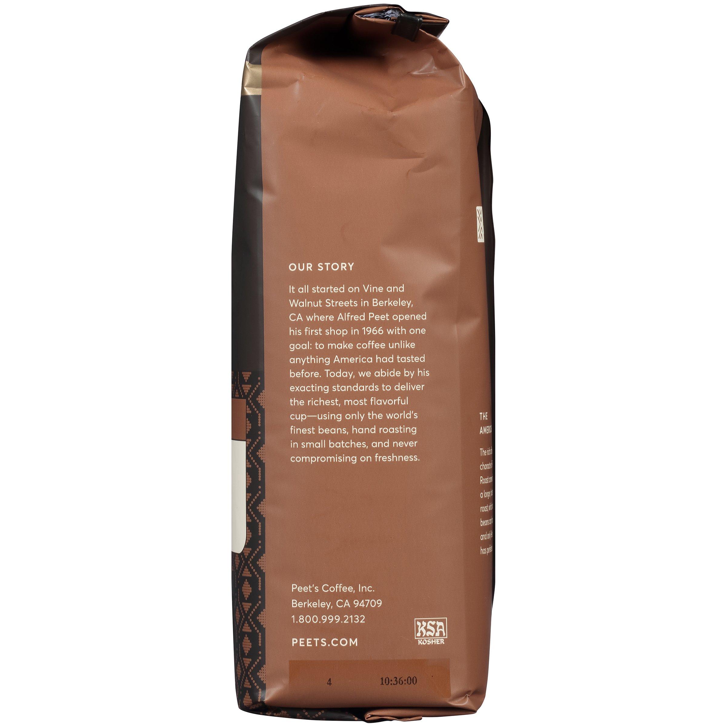 Peet's Coffee, Peetnik Pack, Major Dickason's Blend, Dark Roast, Ground Coffee, 20 oz. Bag, Rich, Smooth, and Complex Dark Roast Coffee Blend With A Full Bodied and Layered Flavor by Peet's Coffee (Image #4)