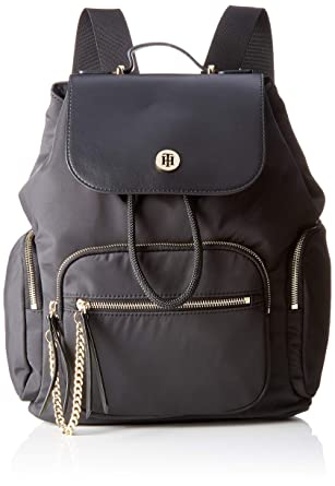 Tommy Hilfiger Core Nylon Backpack, Sacs à dos femme, Noir