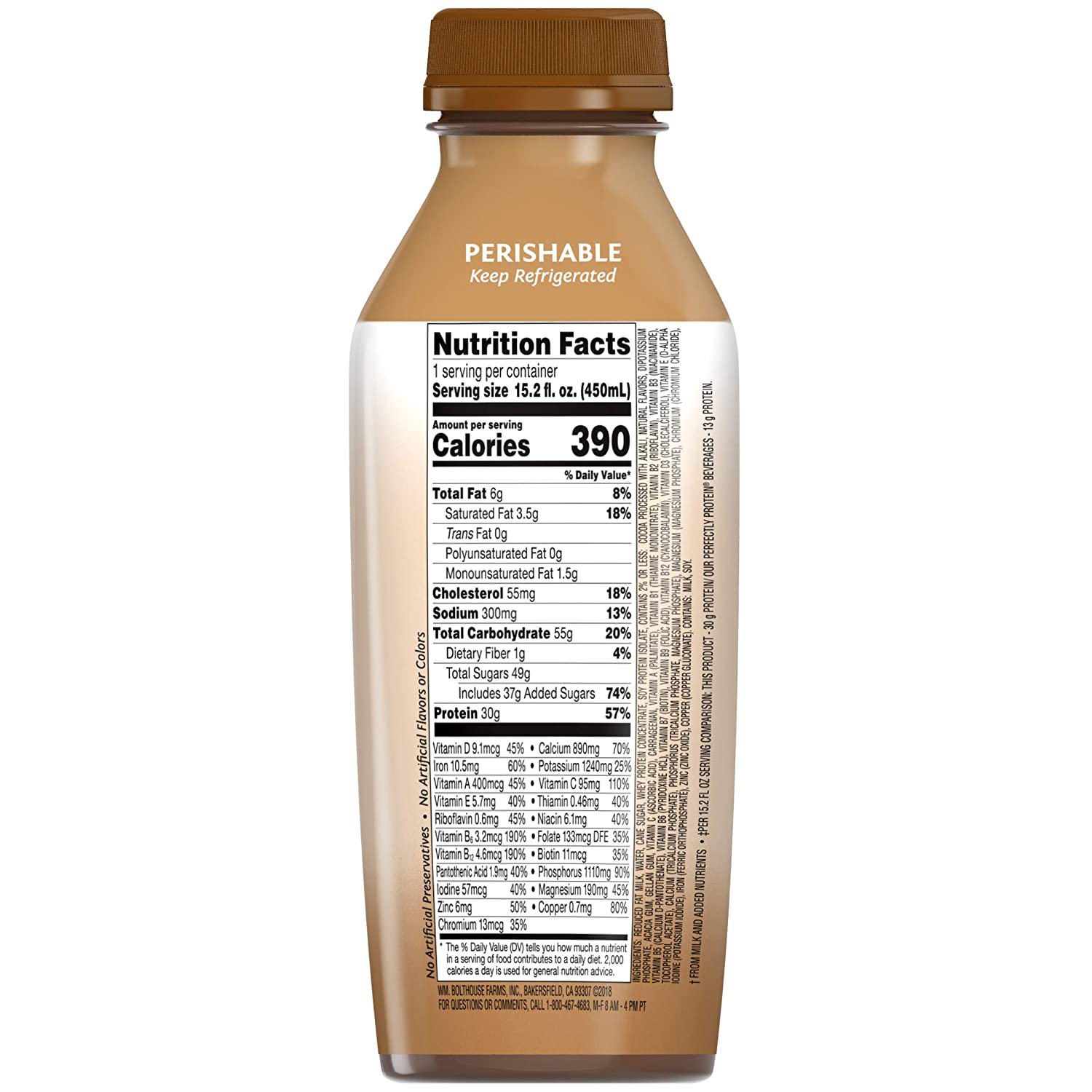 Bolthouse Farms, Protein PLUS Chocolate, 15.2 oz: Amazon.com: Grocery & Gourmet Food