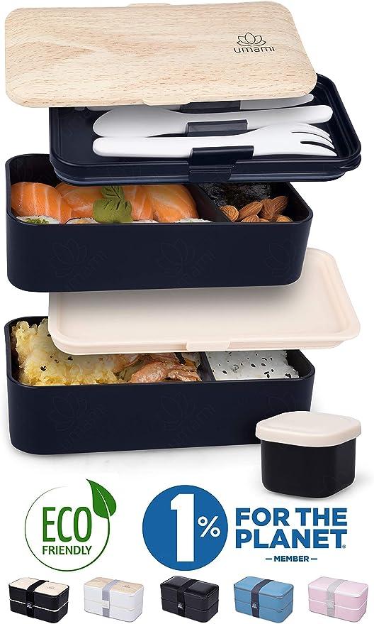 UMAMI® Lunch Box Premium - 1 Recipiente 3 Cubiertos - Tupper ...