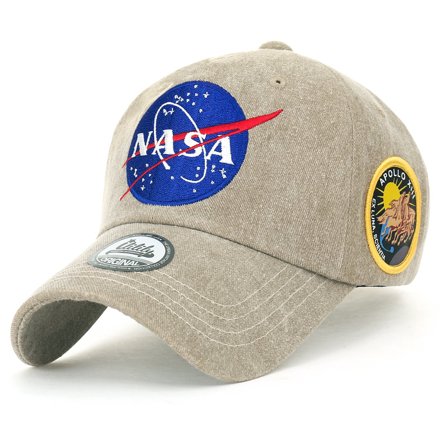 b58a7c984fe4b ililily NASA Meatball Logo Embroidery Baseball Cap Apollo 13 Patch Trucker  Hat at Amazon Men s Clothing store