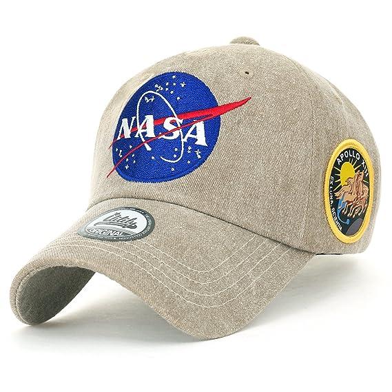 b8251d31e51 ililily NASA Meatball Logo Embroidery Baseball Cap Apollo 13 Patch Trucker  Hat (Medium