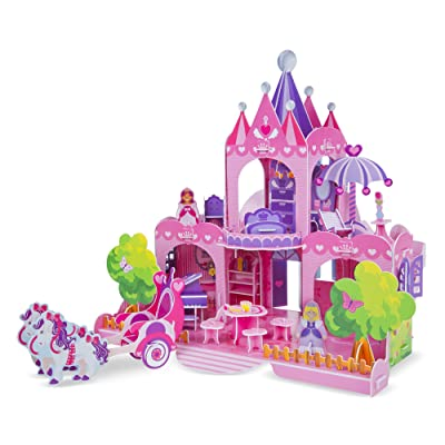 Melissa & Doug Pink Palace 3-D Puzzle (15 x 14.25 x 13 inches, 100+ pcs): Game: Toys & Games [5Bkhe1003709]