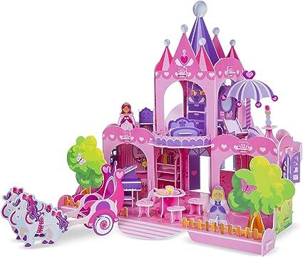 Melissa & Doug Pink Palace 3D Puzzle, Multi Color