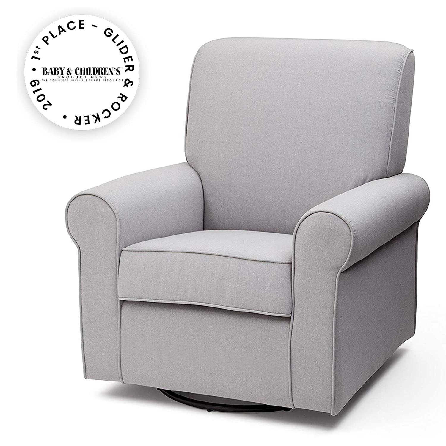Groovy Delta Children Avery Upholstered Glider Swivel Rocker Chair Heather Grey Uwap Interior Chair Design Uwaporg