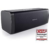 DOCKIN D FINE Hi-Fi Bluetooth Speaker - Lautsprecher für Indoor/Outdoor, wireless, einfach tragbar, wasserdicht, 50 Watt, schwarz