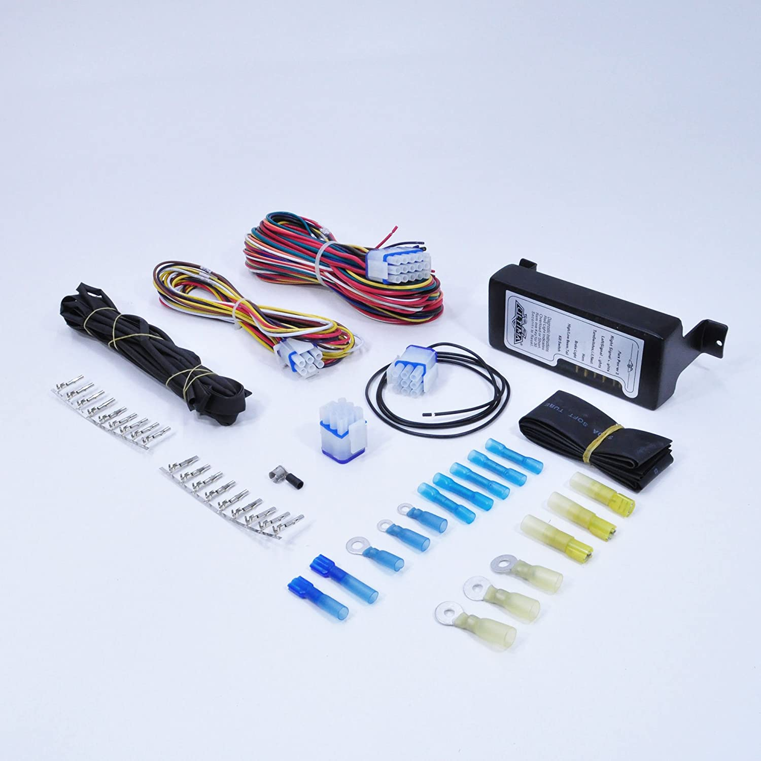 Complete Motorcycle Wiring Harness Kit Electrical System - Waterproof on relay lights, relay coil, relay computer, relay parts, relay switch, relay connections,