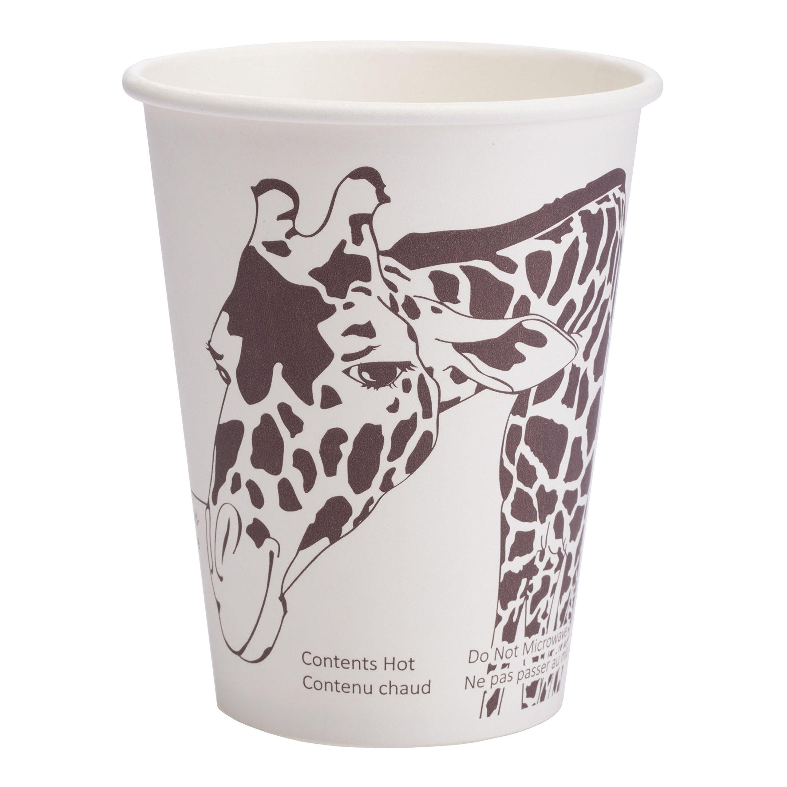 Minima 12 oz 1,000 count Compostable Hot Cups – 100% BPI-CERTIFIED Biodegradable & Compostable Certified