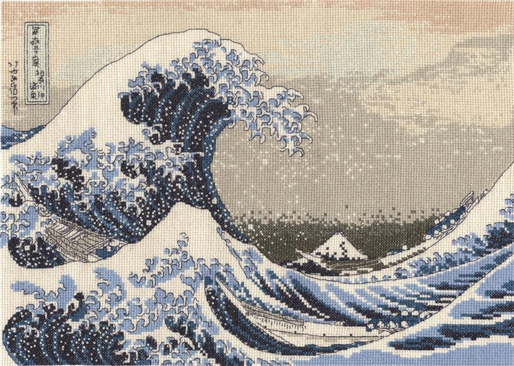 DMC The British Museum Great Wave kit punto croce DMC CREATIVE WORLD BL1145/73