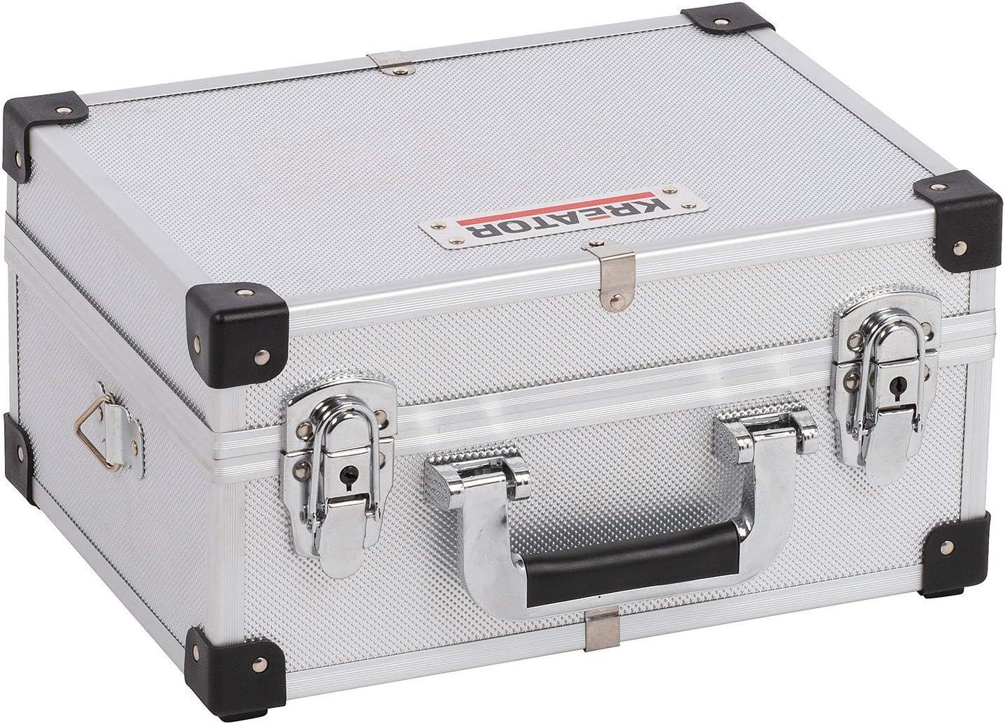 KREATOR KRT640106S - Maletín de alu 320x230x160mm plata