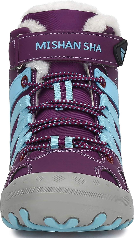 Mishansha Bottes dhiver Gar/çons Hiver Filles Bottes de Neige Confortables Doublure Chaude Chaussures Casual Enfants