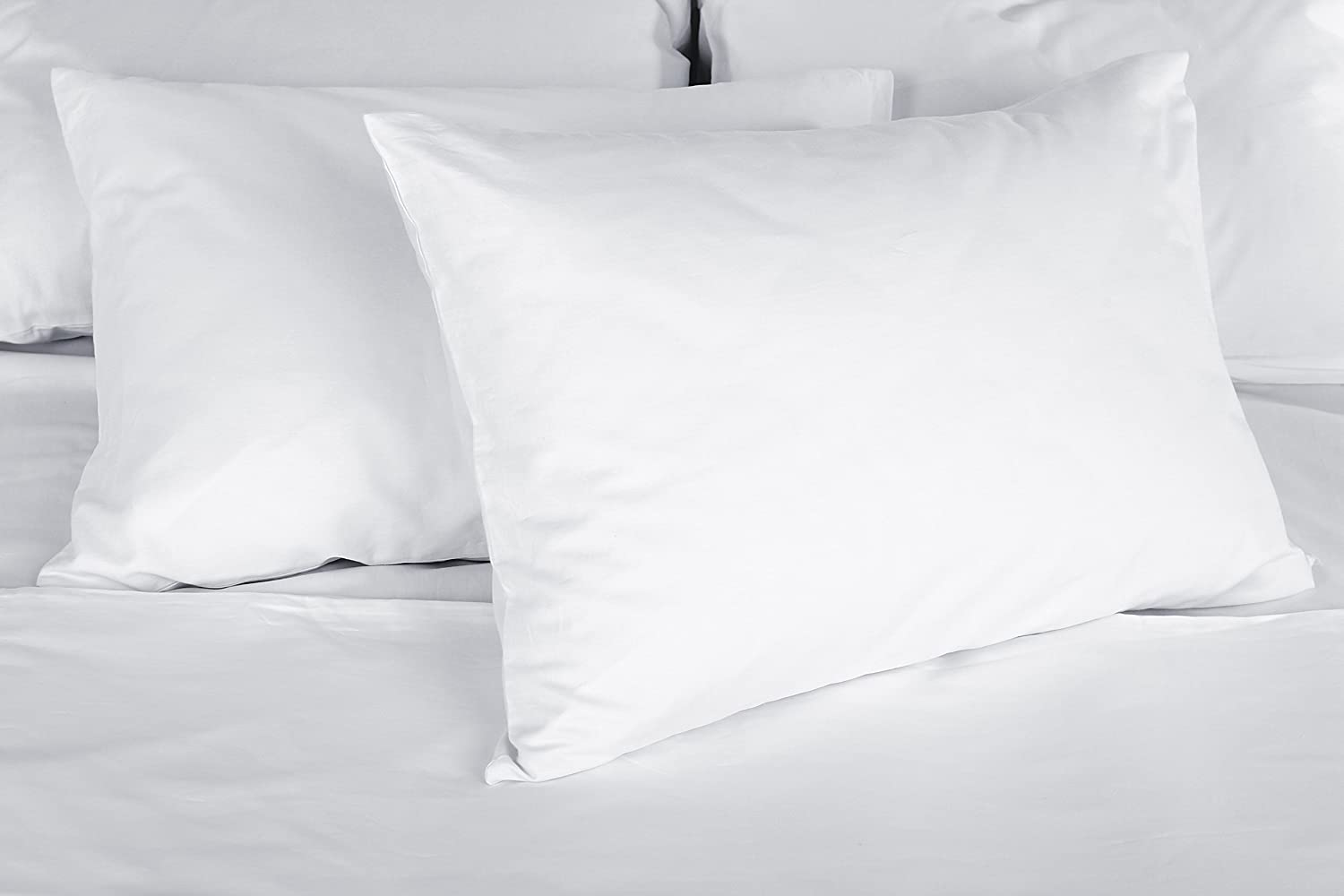 Continental Bedding P550-2-K White Goose Down Luxury Pillow, Soft. (Set of 2), King