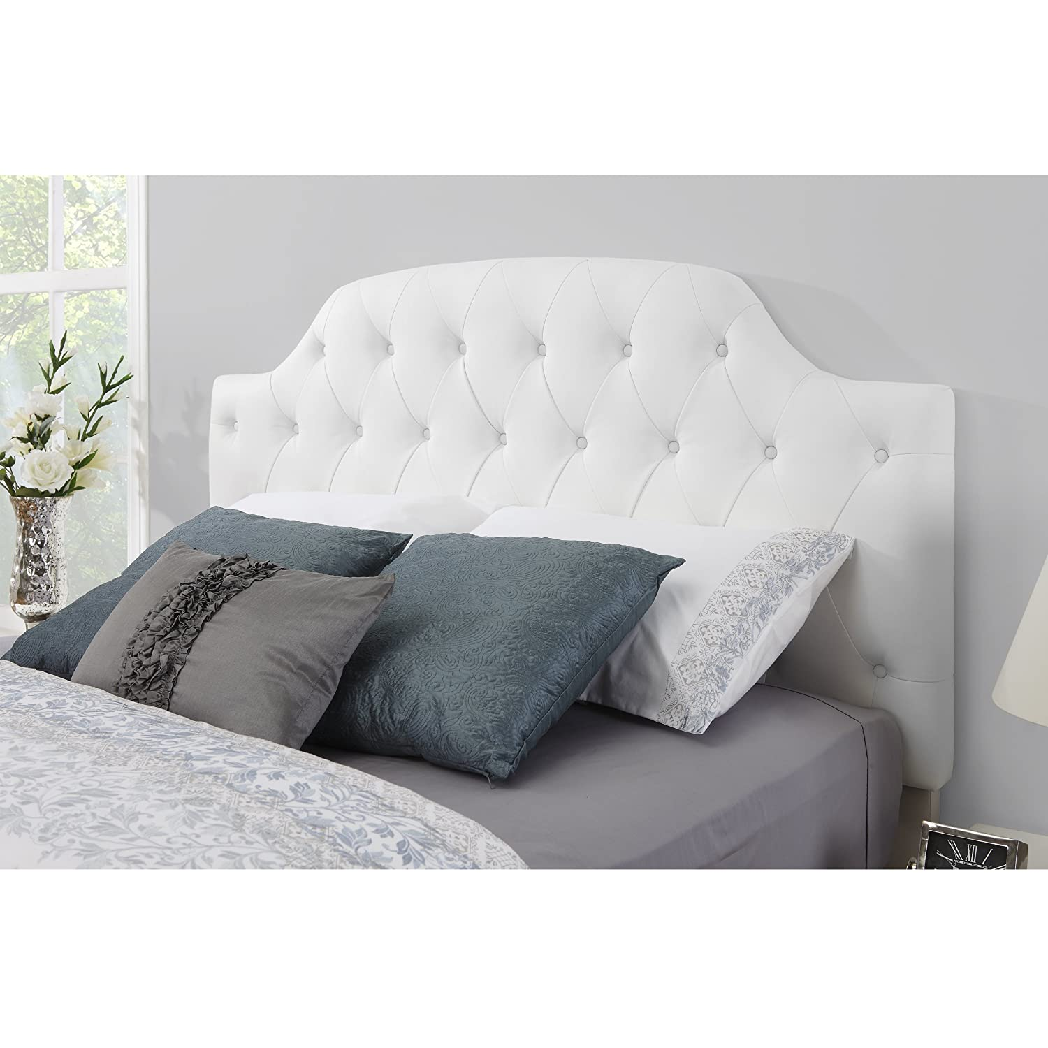 taupe full bed tufted size headboard products footboard button with upholstered
