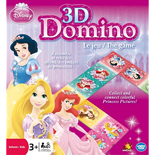 Disney - DPDOM - Jeu Enfants - 3D Dominos - Princesse