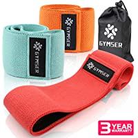 Resistance Fabric Bands Exercise Band for Legs and Butt Yoga Fitness Sports Hip Booty Loop Bands for Physical Therapy Glute or Squat Workout Wide Stretching Gym Bands for Women and Men - Set of 3