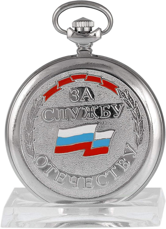 MOLNIJA 3602 Taschenuhr MWD russische mechanische Uhr KGB Dienstuhr Russland Zifferblatt mit Stern