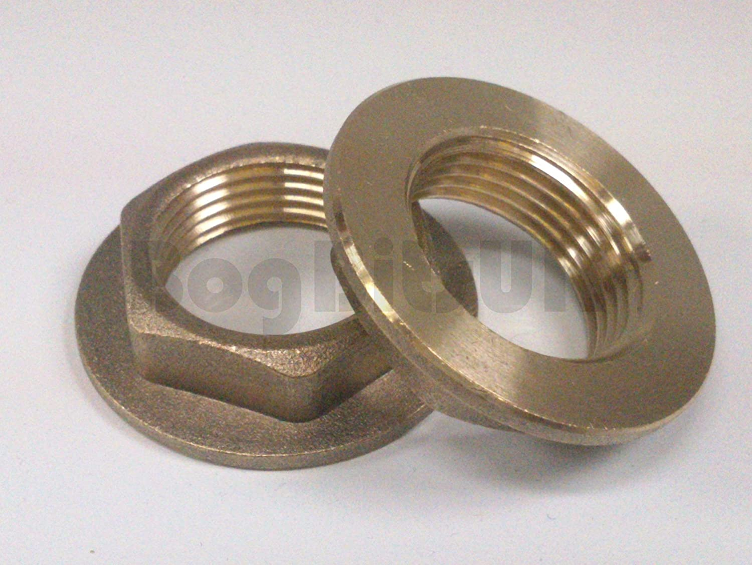 Brass Flanged Backnut 1/2 - 1 Pair by Generic