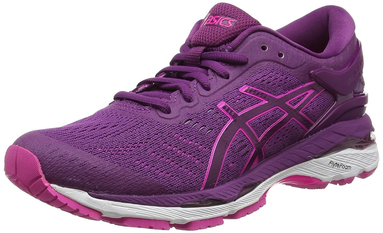 Asics Gel-Kayano 24, Zapatillas de Entrenamiento para Mujer 38 EU|Morado (Prune / Pink Glow / White)