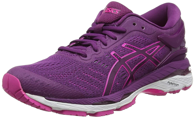 Violet (Prune   rose Glow   blanc) ASICS Gel-Kayano 24, Chaussures de Running Femme 37 EU