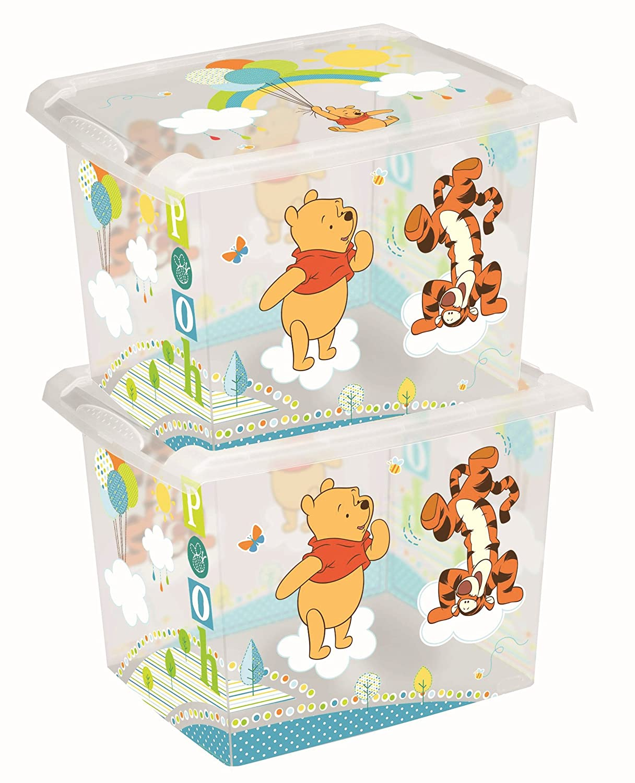 Disney - 2 Scatole per giocattoli Fashion Winnie the Pooh 20 l. OKT Kids