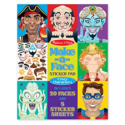 Melissa & Doug Crazy Characters Make-a-Face Sticker Pad: Melissa & Doug: Toys & Games
